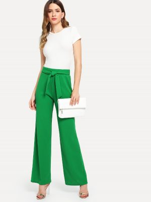 Green Vintage Paper Bag Pants Sale