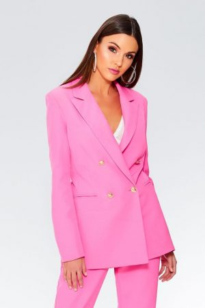 Quiz Clothing Pink Blazer